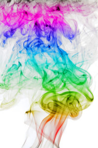 image Abstract background of beautiful color smoke waves.